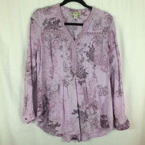 Vintage America Lilac V-Neck Tunic